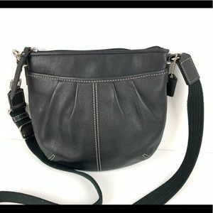 New coach pleated swing pack crossbody bag purse